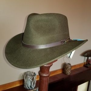586e64a88 Woolrich Crushable Wool Felt Outback Hat NWT